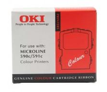 Cinta Color OKI ML590 / 591 (APROX. Cyan 1,5 MILL Magenta 1,5 MILL Amarillo 1,2 MILL. Negro 1,5 MILL CARACT.)
